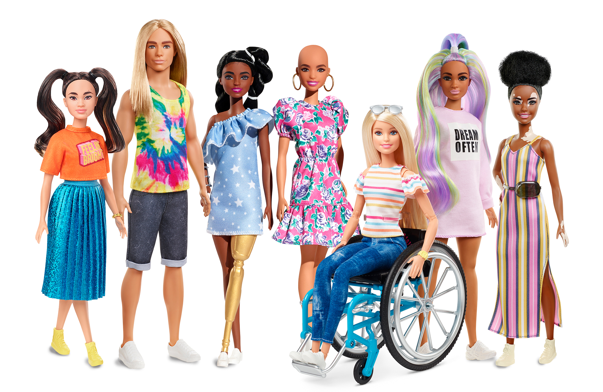 Mattel Releases New Barbie Dolls with Vitiligo, Alopecia image