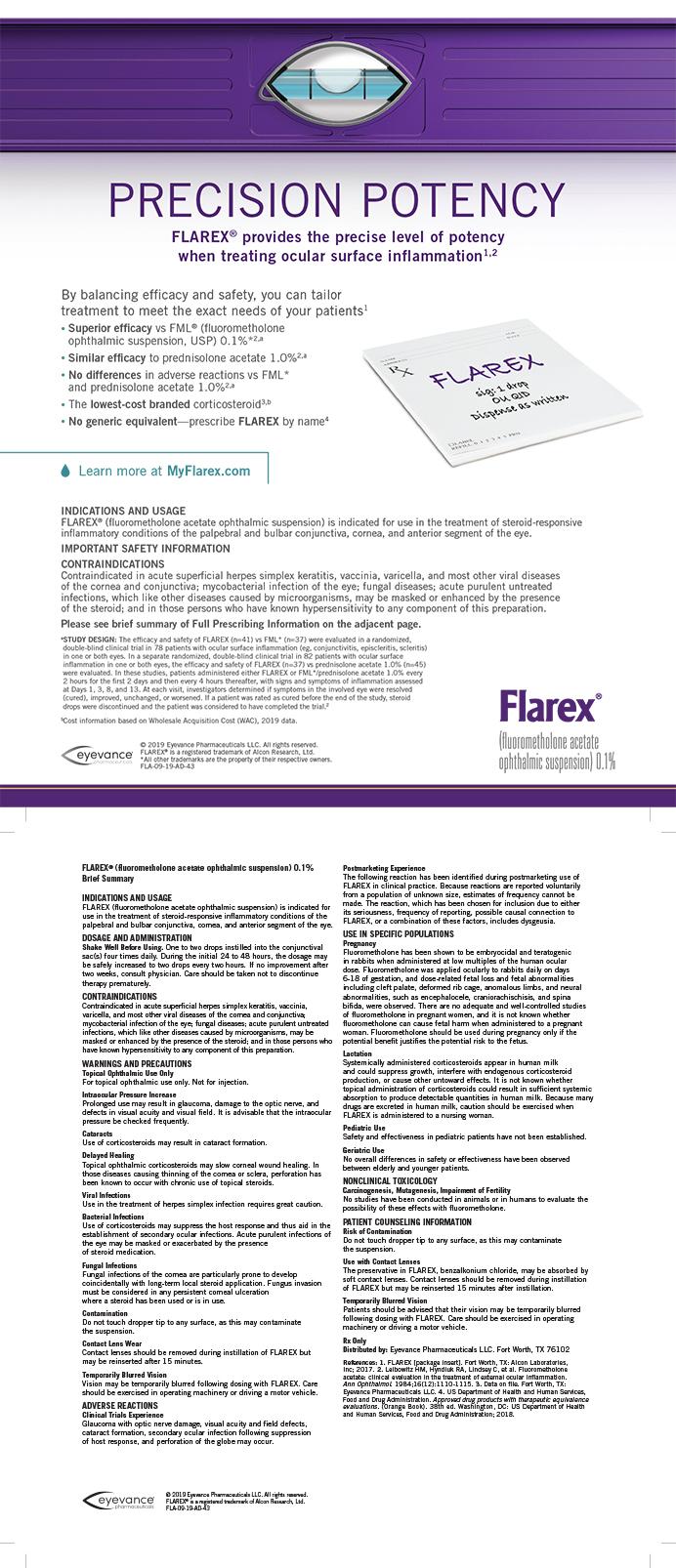 Eyevance Pharmaceuticals Flarex 1119