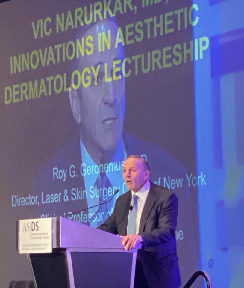 Dr. Roy Geronemus Awarded The Vic Narurkar, MD Innovations in Aesthetic Dermatology Lectureship Award image