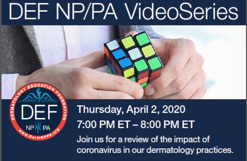 Tonight: DEF Webinar Series Kicks Off to Explore COVID-19 Impact on PAs, NPs image